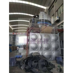 四川南充200T圆形冷却塔安装现场